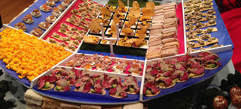 Canape receptions eating royally personal chef darren for Canape hors d oeuvres